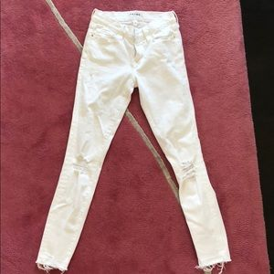Frame Le Skinny Crop White Jeans